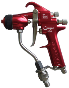 ca technologies cougar air assisted airless handheld spray gun