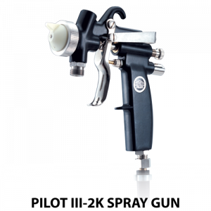 walther pilot iii2k plural component adhesive handheld spray gun